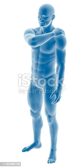istock Man with a shoulder pain 1132398706