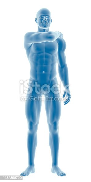 istock Man with a shoulder pain 1132398720