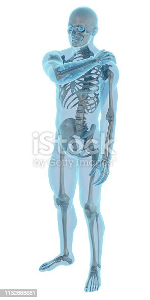 istock Man with a shoulder pain 1132888681