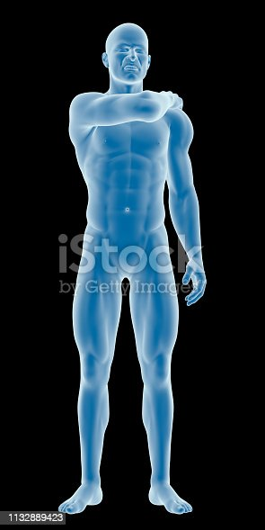 istock Man with a shoulder pain 1132889423