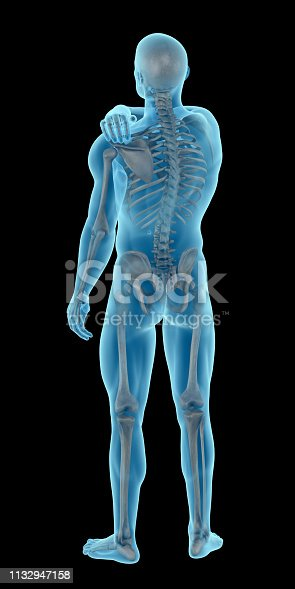 istock Man with a shoulder pain 1132947158