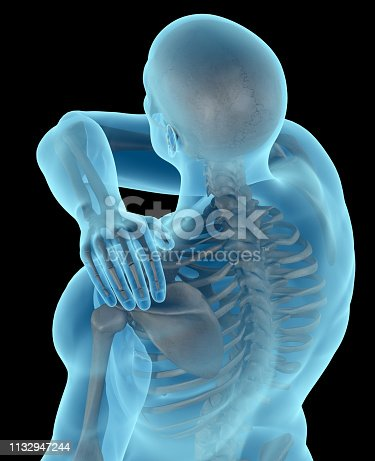 istock Man with a shoulder pain 1132947244