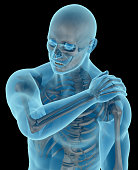 Man with a shoulder pain