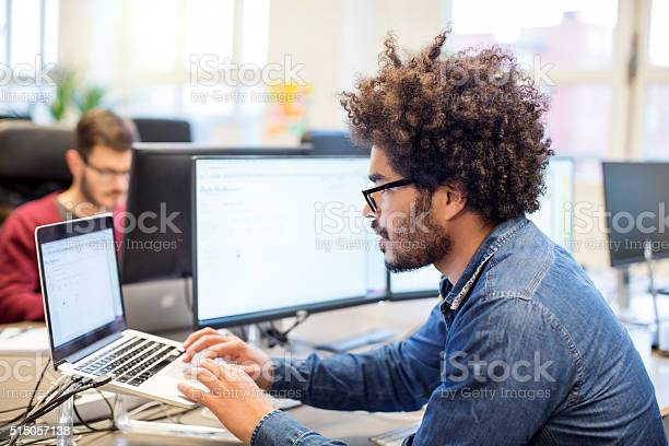 Man with afro hairstyle working at his desk picture id515057138?b=1&k=6&m=515057138&s=612x612&h=nuctpzfg4tuvmrgf2f0qjox4vyv0nf3xncqa6nuonl0=