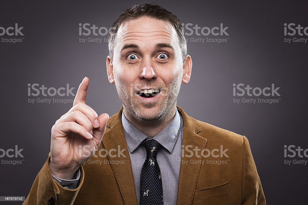 Man with an idea royalty-free stock photo