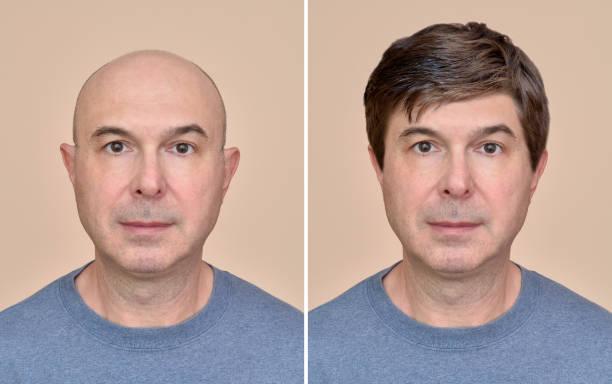 남자와 머리 없이 - 가발 뉴스 사진 이미지