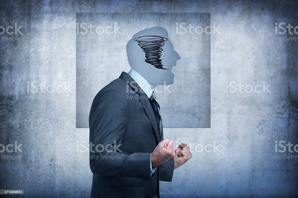 Man with anger issues stock photo