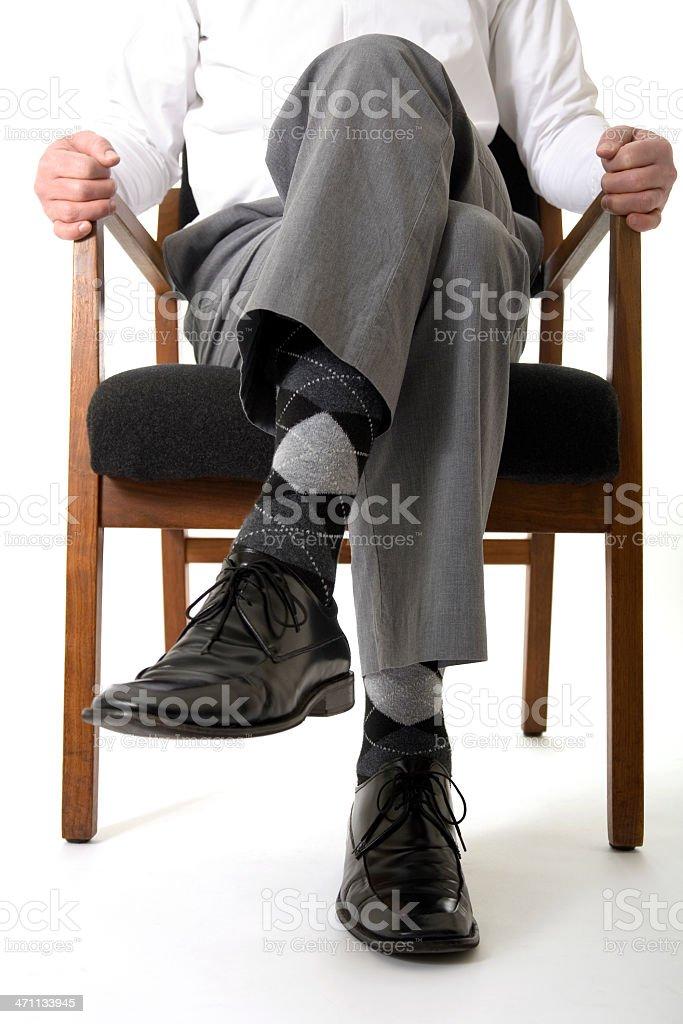 Man with Argyle Socks stock photo