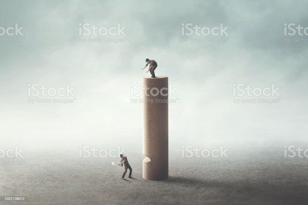 Mann mit Axt versuchen, den Rivalen zu töten – Foto