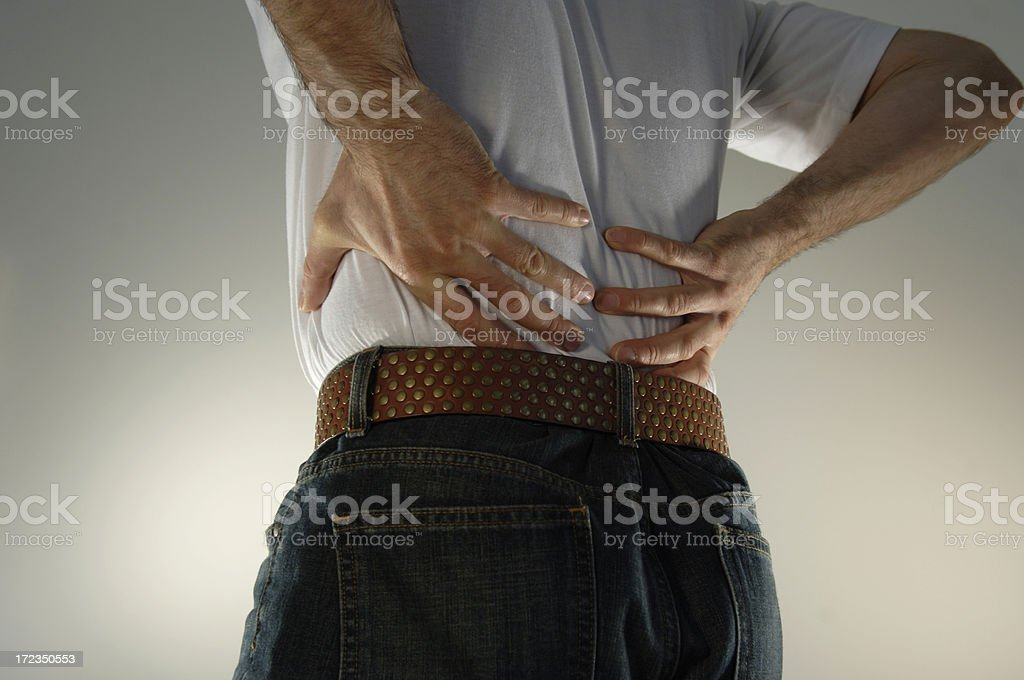Man With Back Ache royalty-free stock photo