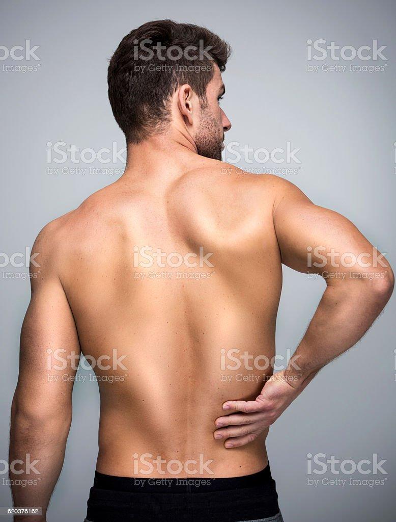 Człowiek z bóle pleców  – zdjęcie