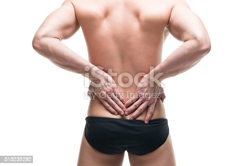 istock Man with backache. Pain in the human body 513235292