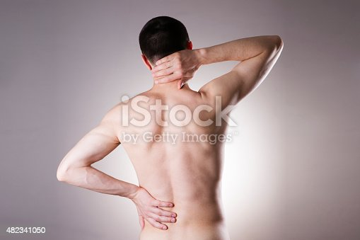 istock Man with backache. Pain in the man's body 482341050