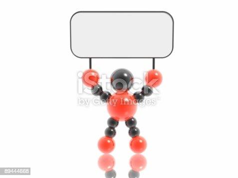 istock man with banner 89444668