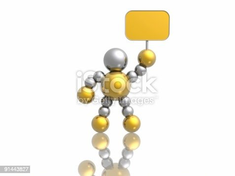 istock man with banner 91443827