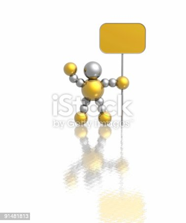 istock man with banner 91481813