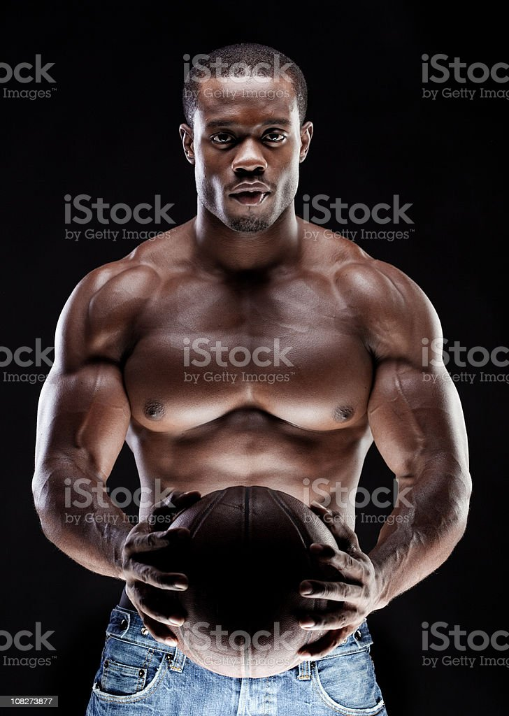 Man with basketball royalty-free stock photo