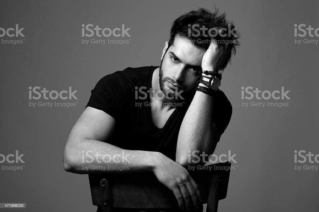 Man with beard stock photo