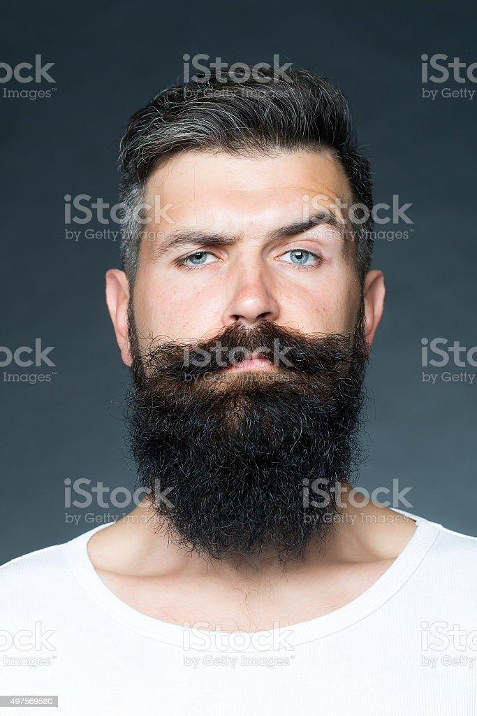 Hombre con barba - foto de stock