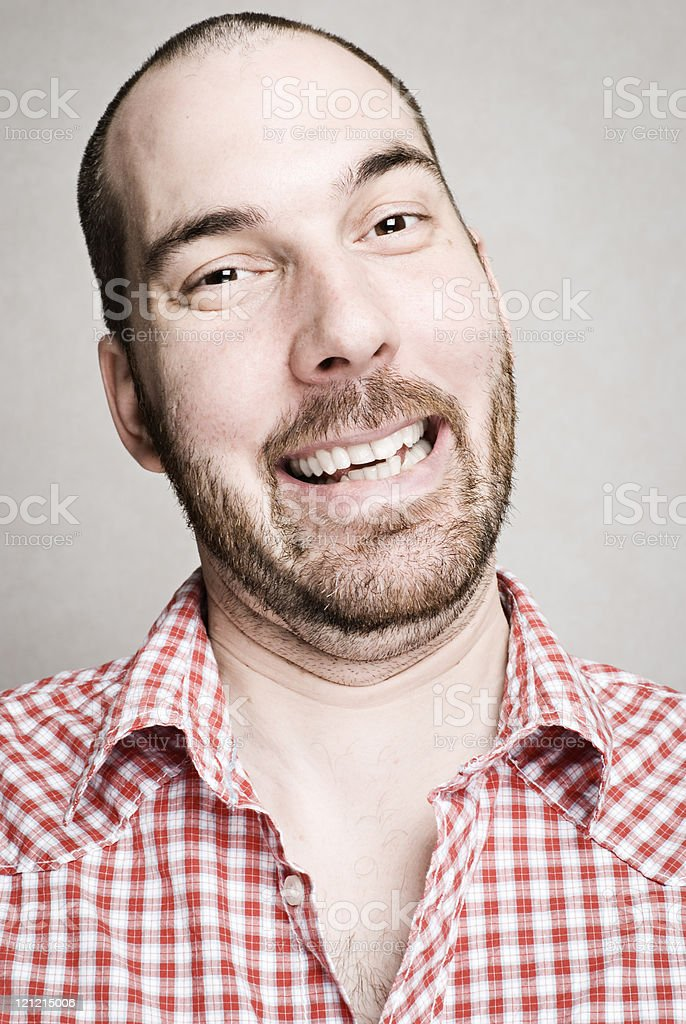 Man with Big Happy Smile royalty-free stock photo