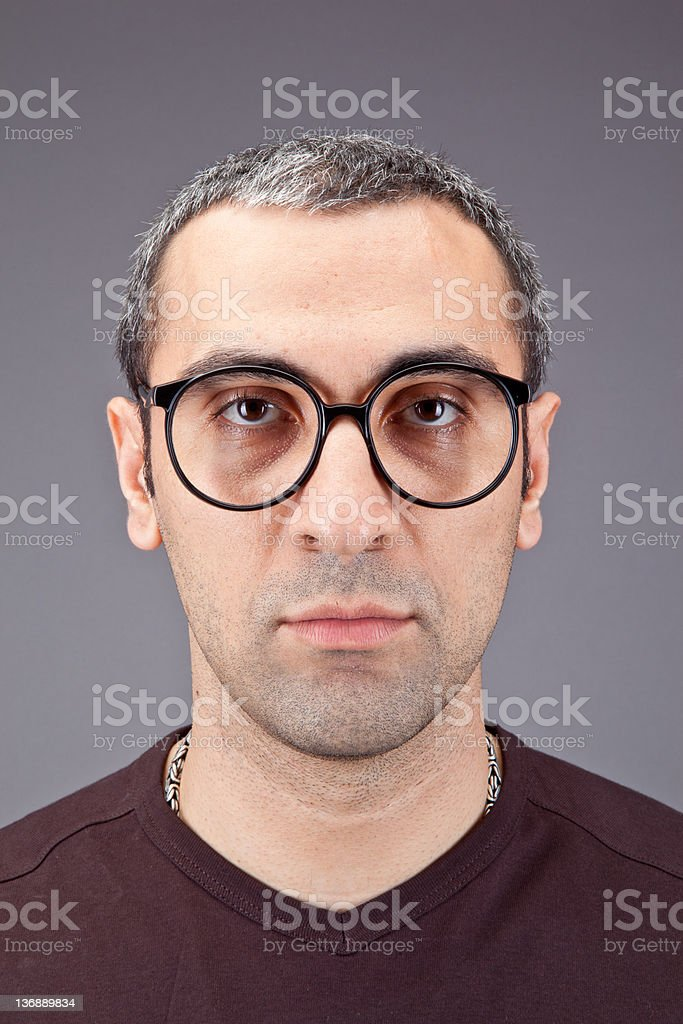 man with black glasses royalty-free stock photo