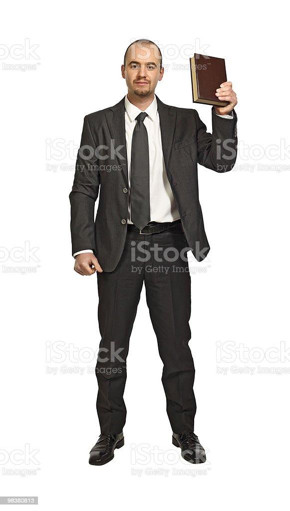 Uomo con libro foto stock royalty-free