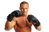 istock Man with boxer gloves 480696058