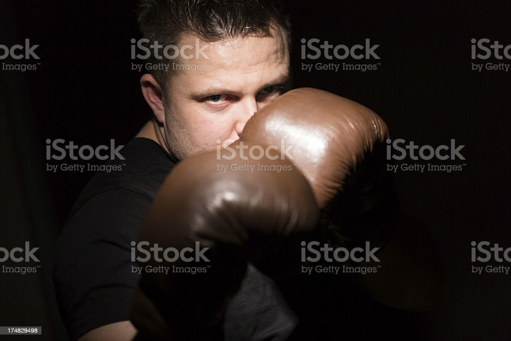 man with boxing gloves royalty-free stock photo