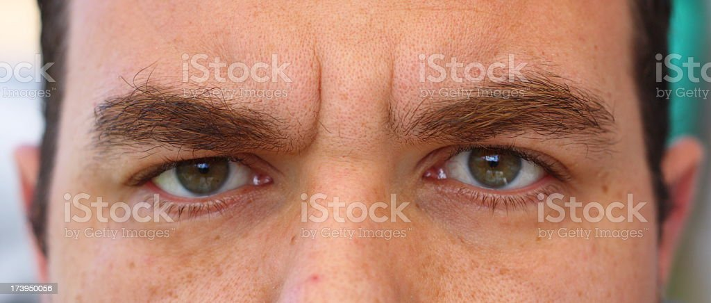 Man With Bushy Eyebrows Stock Photo More Pictures Of 30 34 Years