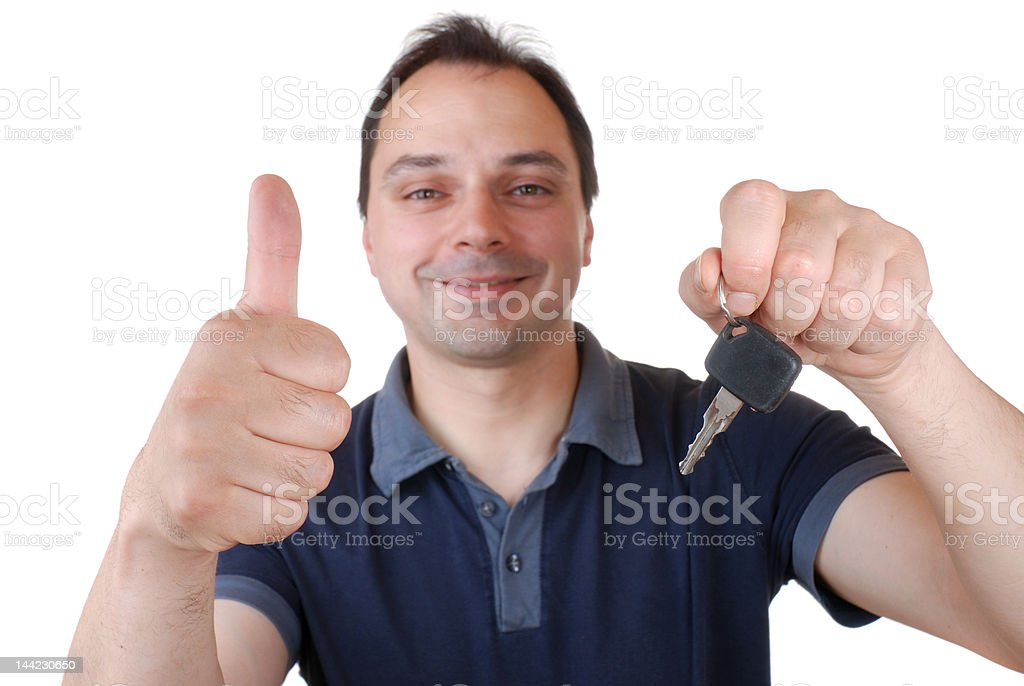 man with car key royalty-free stock photo