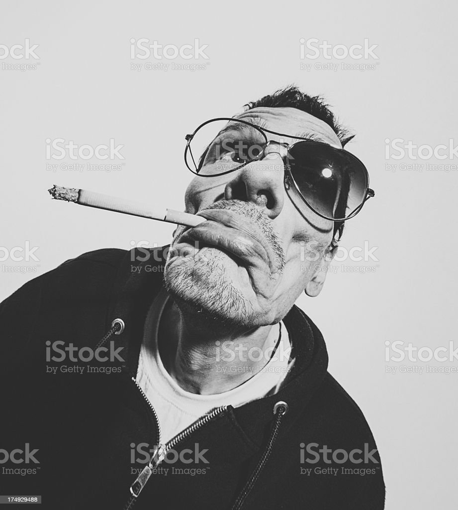 Man With Cigarette stock photo