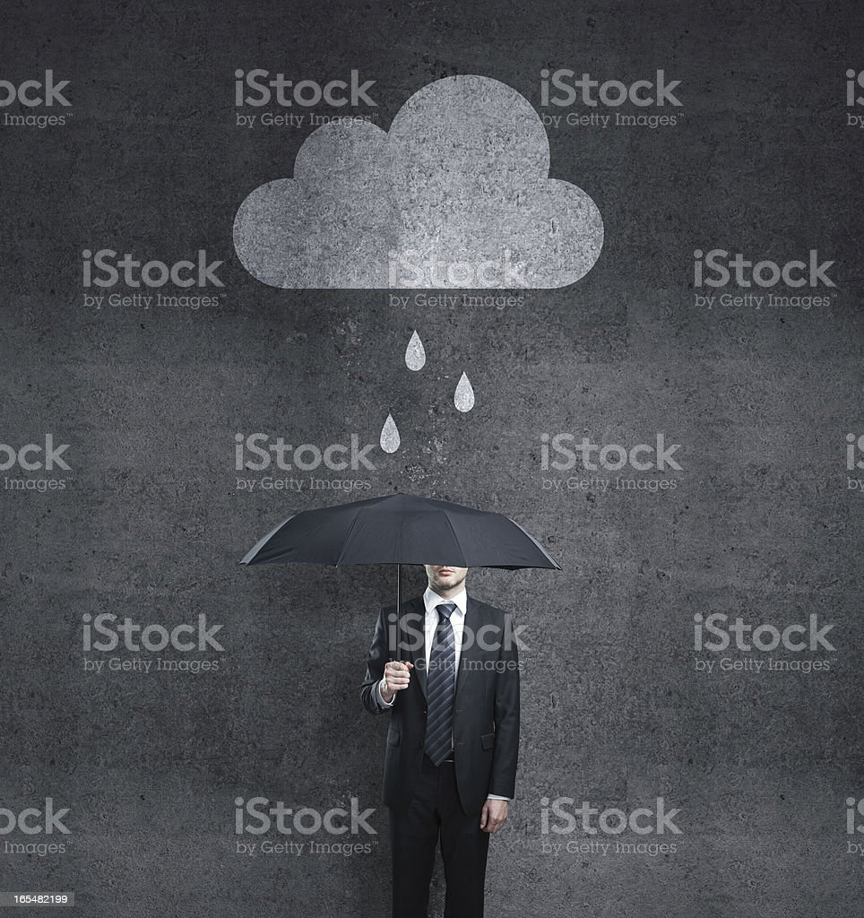 man with cloud royalty-free stock photo