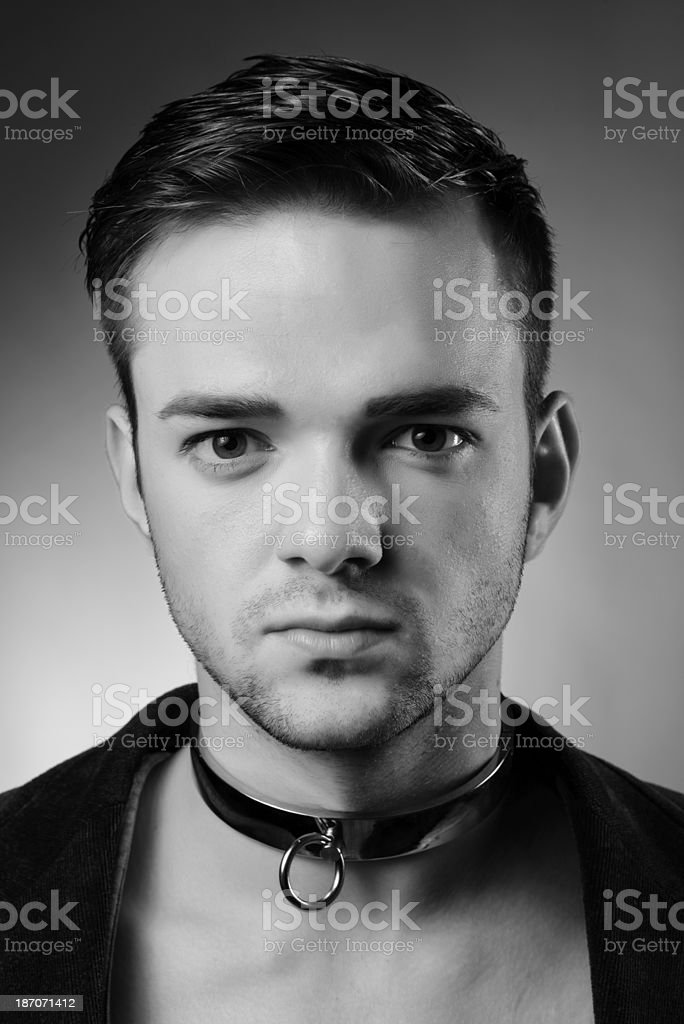 man with collar royalty-free stock photo