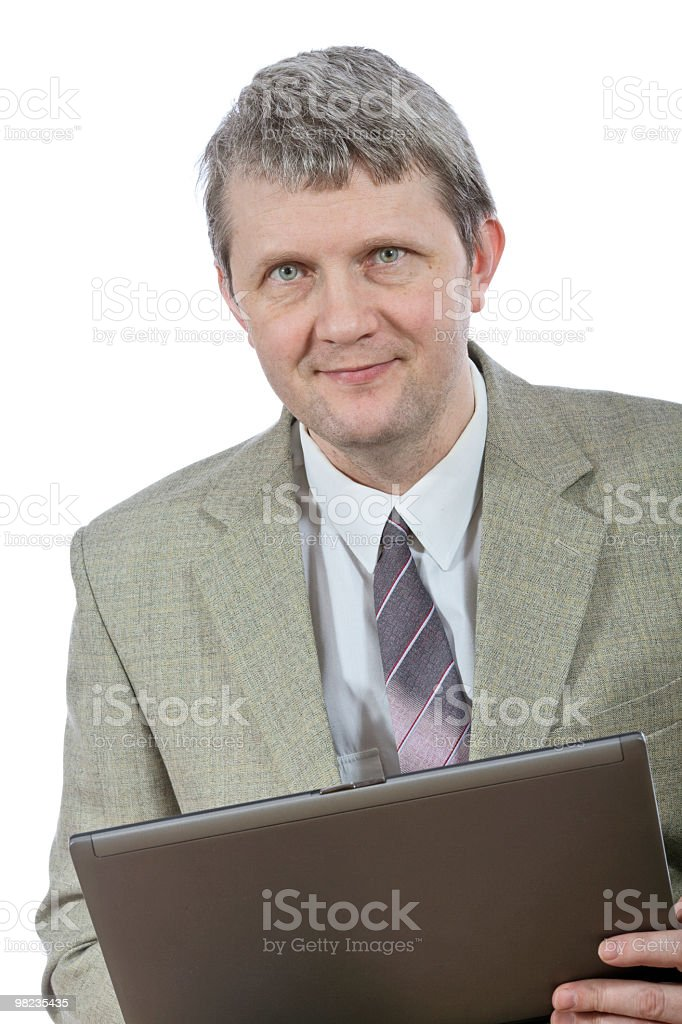 Man with computer royalty-free stock photo