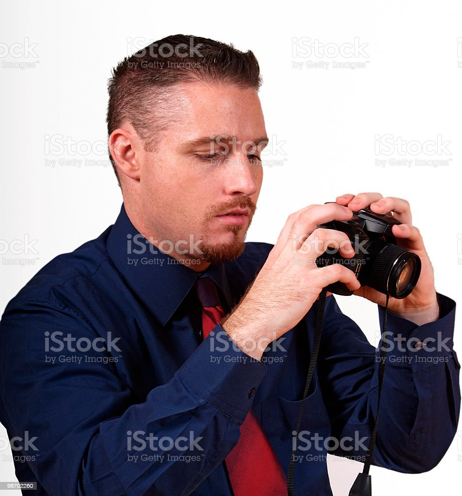 man with digital camera royalty-free stock photo