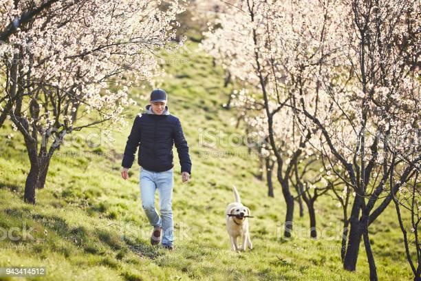 Man with dog in spring nature picture id943414512?b=1&k=6&m=943414512&s=612x612&h=y8gusuczogl1f98oyd ctvfv7kes lmlml y0czrbgq=