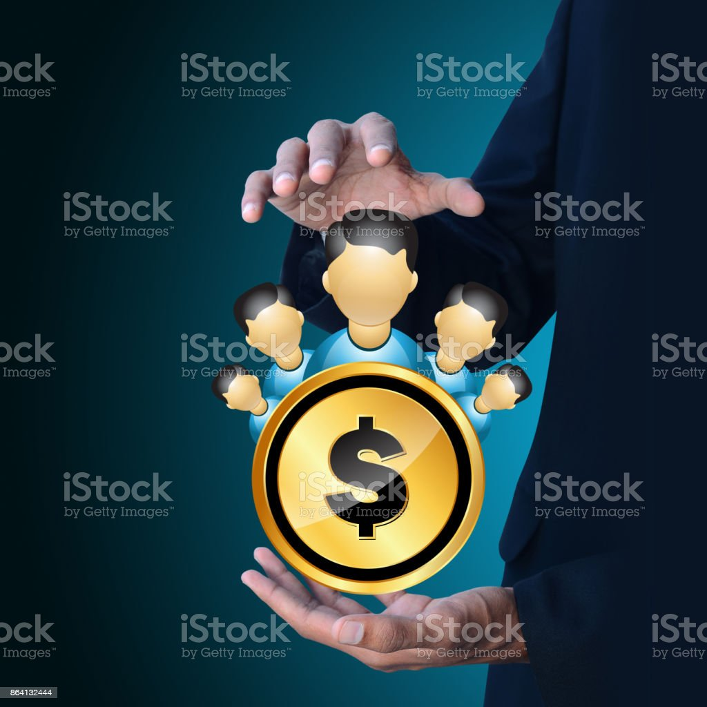 Man with dollar sign royalty-free stock photo