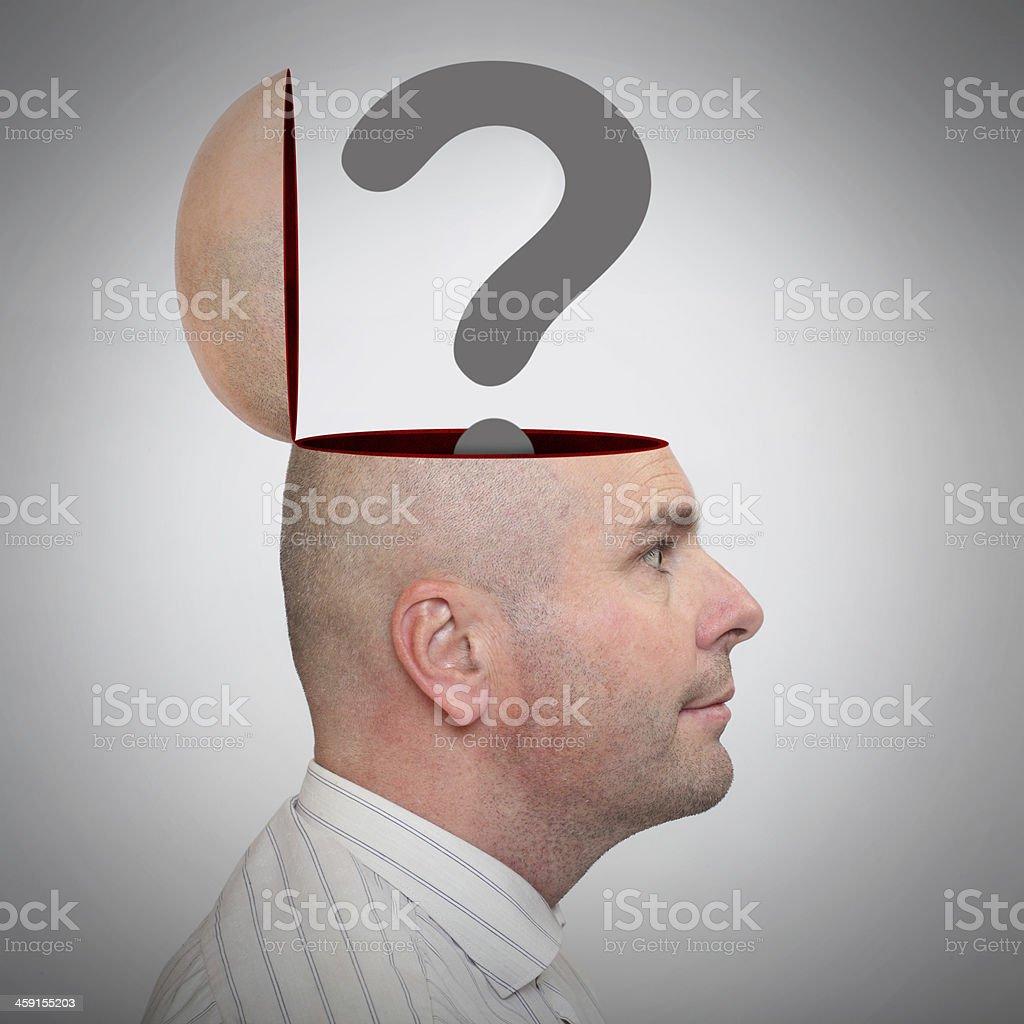 Man with empty head. royalty-free stock photo