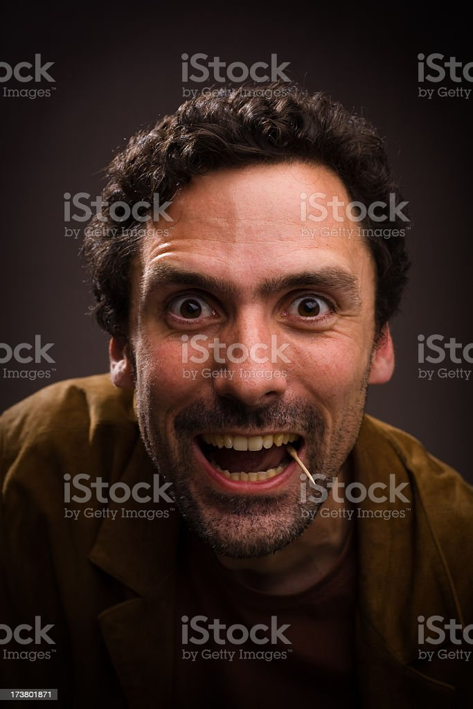 Man with enthusiastic face royalty-free stock photo