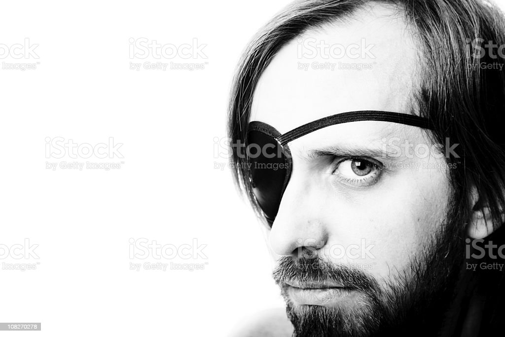 Man With Eye Patch stock photo