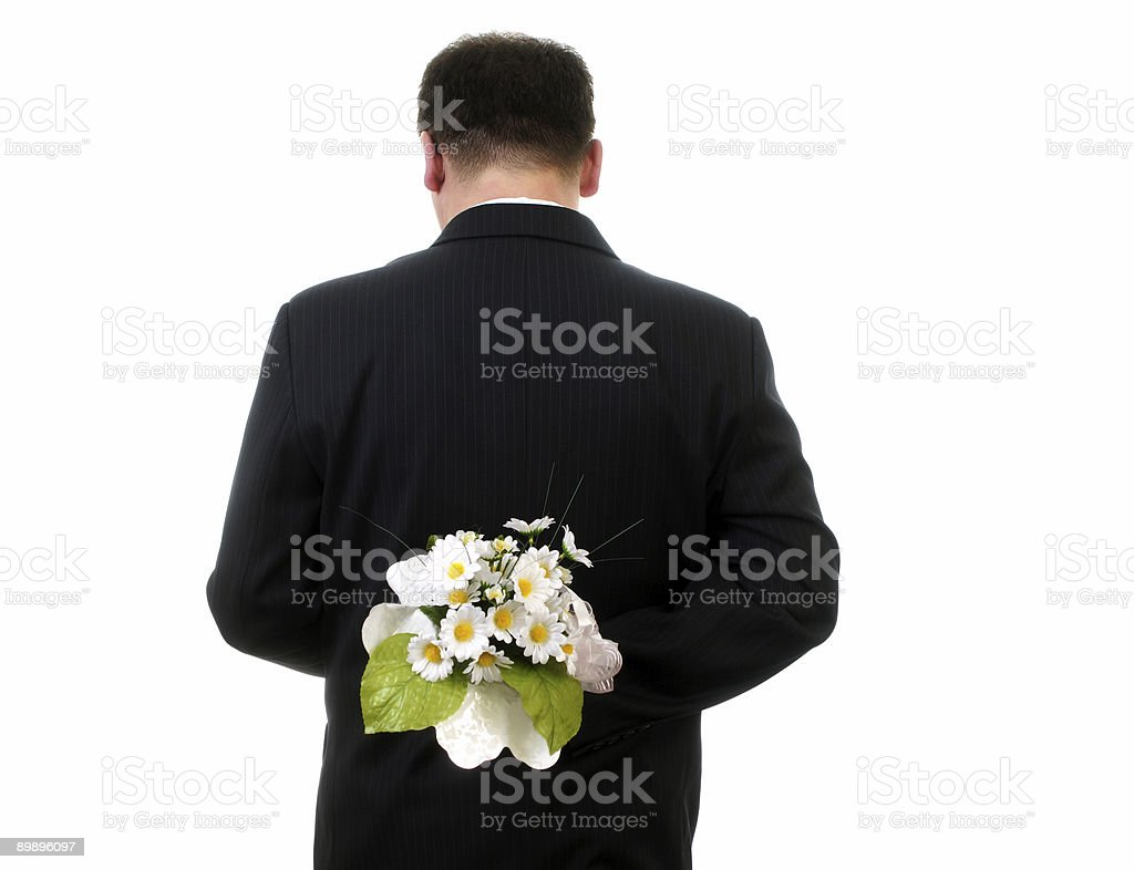 Man with flower royalty-free stock photo