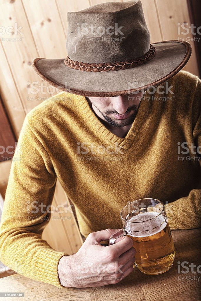 Man With Glass Of Beer royalty-free stock photo