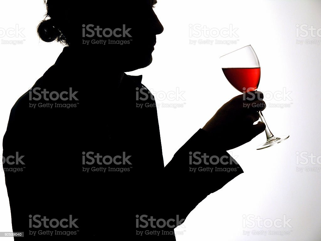 Man with glass stock photo