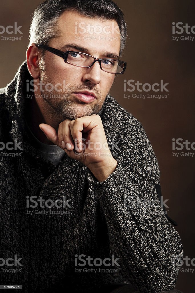 man with glasses royalty-free stock photo