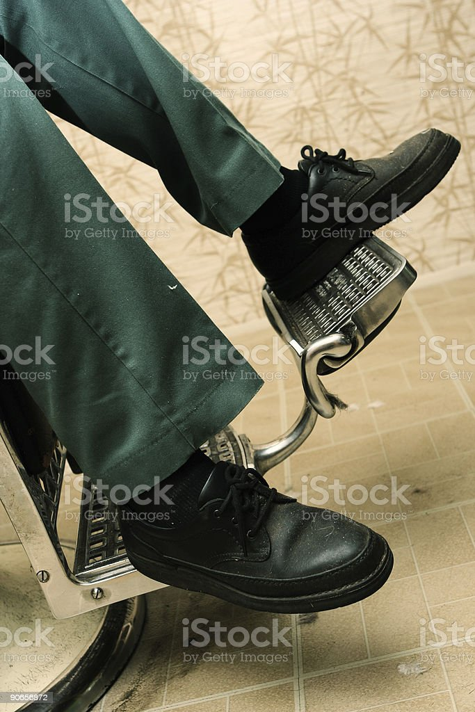 Man with Green Pants and Black Shoes royalty-free stock photo