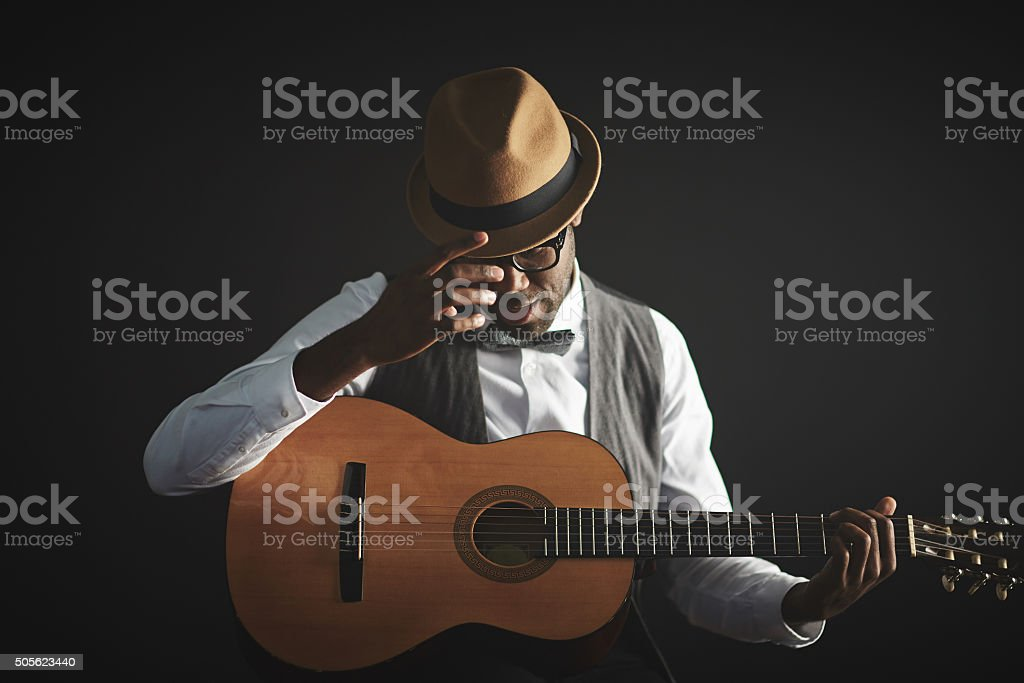 Man with guitar royalty-free stock photo