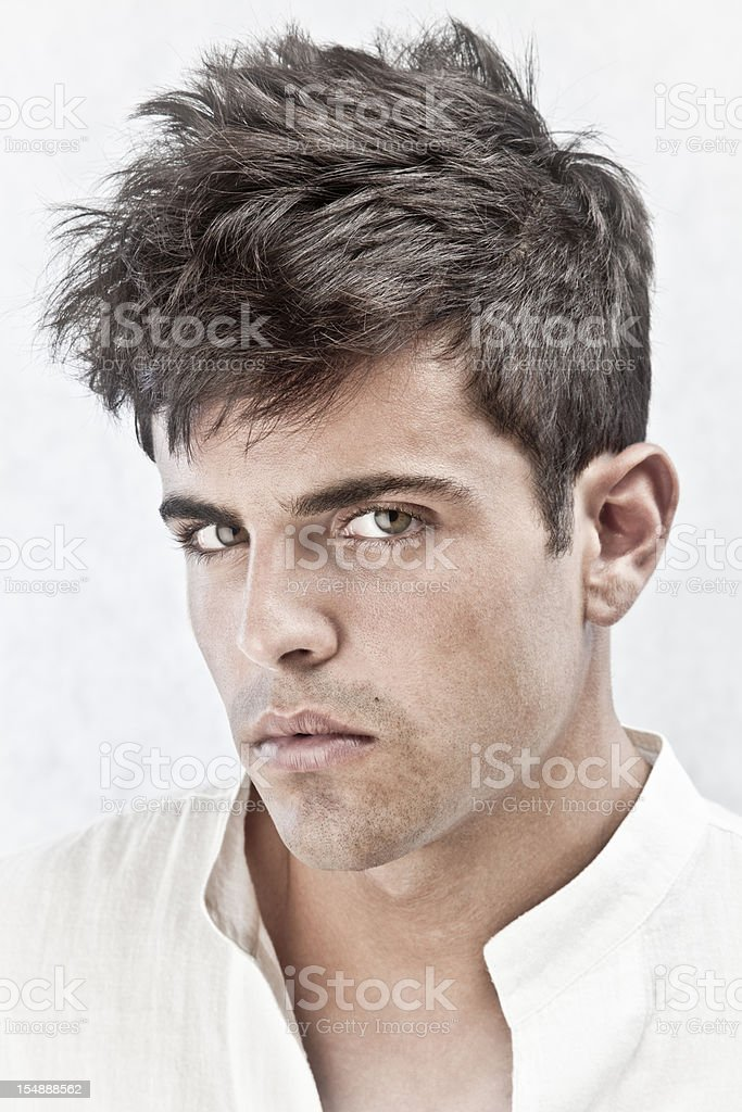 Man with hairtyle stock photo