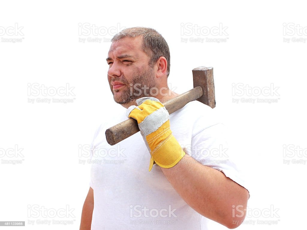 Картинка человека с молотом