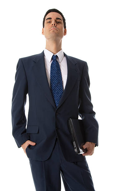 Man with hand in pocket stock photo