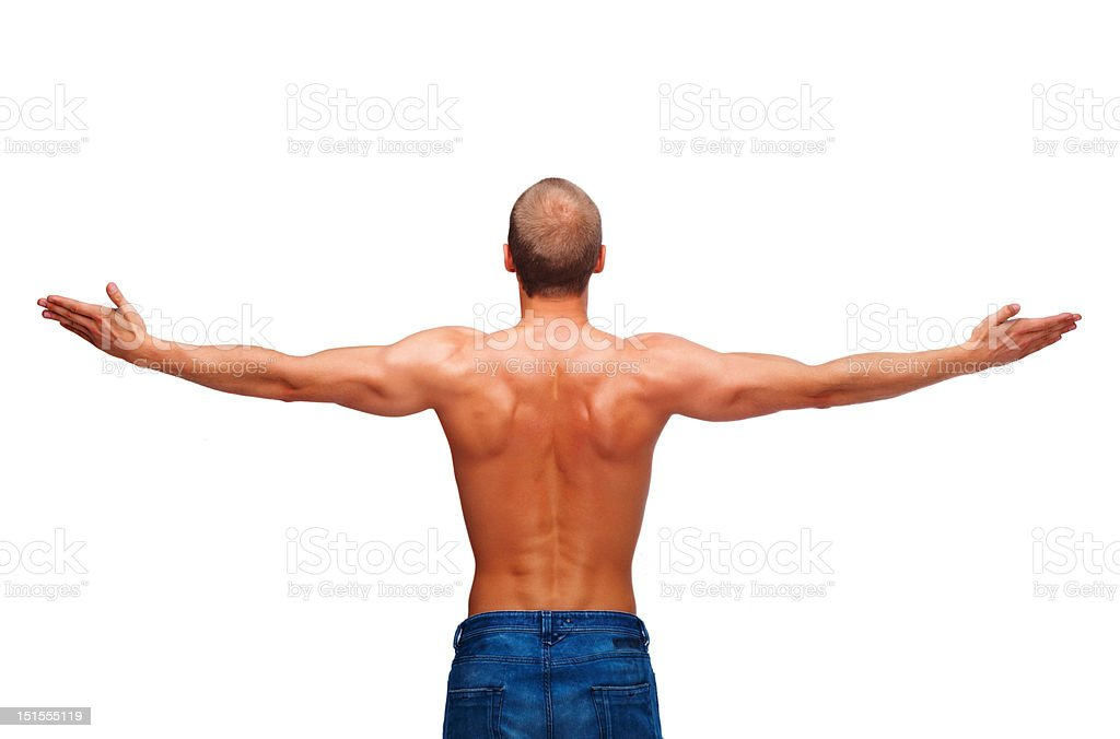 Man with hands outstretched royalty-free stock photo